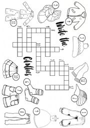 Clothes crossword