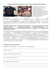 English Worksheet: Travel With Iconspeak - READING AND SPEAKING ACTIVITY