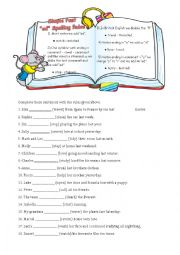 English Worksheet: Spelling Rules
