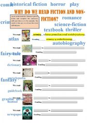 English worksheet: GENRES OF LITERATURE