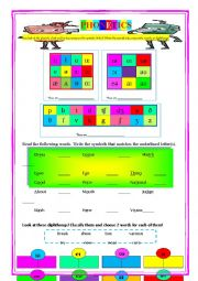 English Worksheet: Phonetics Symbols