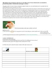 English Worksheet: Reading comprehension the ugliest animals