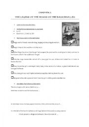 English Worksheet: The Hound of the Baskervilles, chapter 1