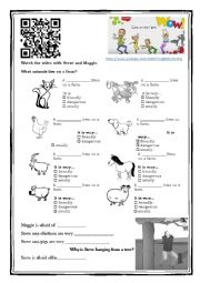 English Worksheet: Cats on a Farm (WOW English)