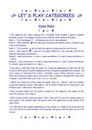 English Worksheet: LET�S PLAY CATEGORIES