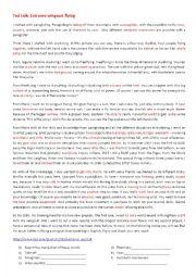 English Worksheet: Extreme sports - TED talk