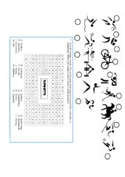 English Worksheet: Wordsearch about sports