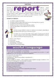 English Worksheet: WRITING - REPORT