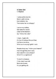 English Worksheet: Poem on rules
