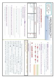 English Worksheet: Test ( Listening Comprehension & Language