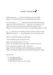 english worksheets analysis song. Black Bedroom Furniture Sets. Home Design Ideas
