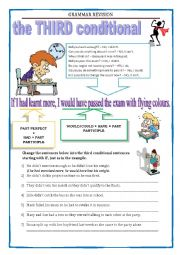 English Worksheet: GRAMMAR REVISION - The third conditional