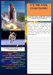 English worksheet: STORY WRITING (PRACTISING WRITING SKILL FOR FCE)