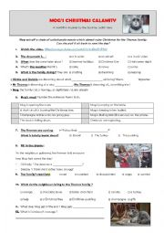 English Worksheet: Mog�s christmas calamity. Sainsbury�s advert.