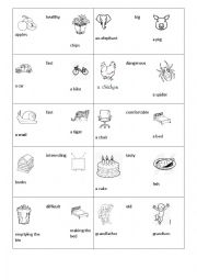 English Worksheet: Compare these things or animals