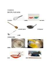 English Worksheet: pancakes recipe