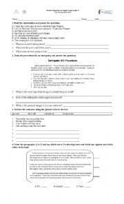 English Worksheet: Diagnostic Exam PNIEB Mexico Second Grade Secondary School