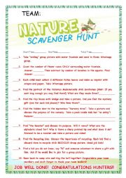 English Worksheet: Scavenger Hunt