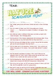 English Worksheet: Scavenger Hunt