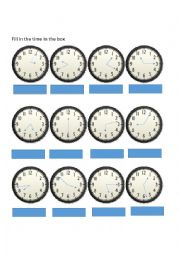 ... classroom forms worksheets > Telling time: Clocks analog and digital