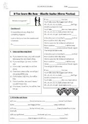 English worksheet: If you leave me now - 1st conditional