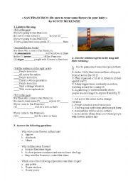 English Worksheet: San Francisco song