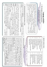 English Worksheet: language activities suitable for 2nd form students