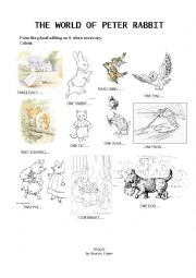 Plurals and animals with Peter Rabbit by Beatrix Potter