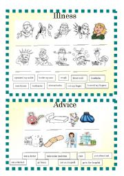 English Worksheet: Illness and Advise