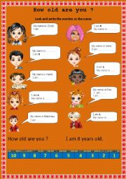English Worksheet: HOW OLD ARE YOU