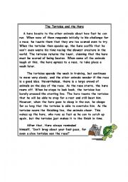 English Worksheet: Fables