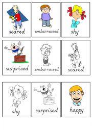 English Worksheet: Flashcards emotions
