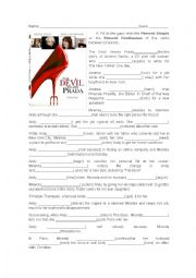 english worksheets devil wears prada. Black Bedroom Furniture Sets. Home Design Ideas
