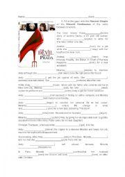 English Worksheet: Devil wears Prada