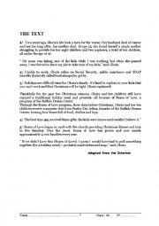 English worksheet: full -term test