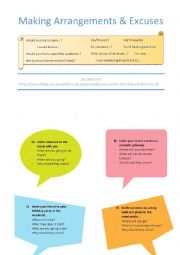 English Worksheet: Making and Accepting Invitations Role Play Activity