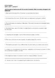English Worksheet: Infinitive and clause of purpose