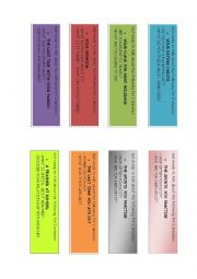 English Worksheet: Icebreakers / Conversation cards.