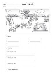 English Worksheet: Preposition -in, on, under