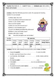 English Worksheet: Diagnostic Test for 9th formers