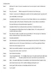 English Worksheet: Conversation  Meeting People
