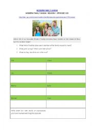 English Worksheet: Modern Family - Two chapters about Travelling