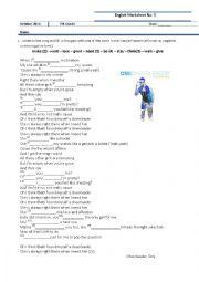 English Worksheet: Song Present Simple