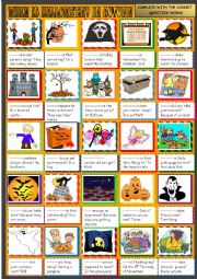 English Worksheet: When is Hallowe�en ? In autumn: question words: practice