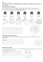 English Worksheet: Pokemon test