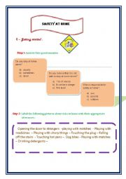 English Worksheet: SAFETY AT HOME PART 1