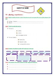 English Worksheet: SAFETY AT HOME PART 2
