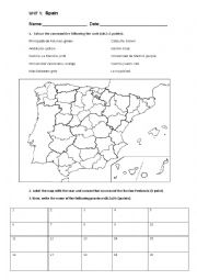 Spain´s political map test