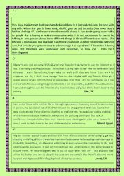 English Worksheet: internet addiction science and technology the texts