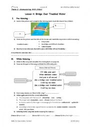 English Worksheet: bridge over troubled water